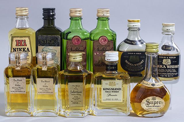 未開栓,古酒,NIKKA,ニッカ,ウイスキー,ミニチュアボトル,11本セット,The Blend of Nikka Selection-01