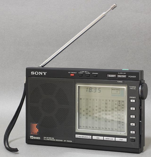 中古品,SONY,ソニー,15バンドラジオ,ICF-7600DA,PLLシンセサイザーレシーバー,FM,LW,MW,SW,短波,BCL,液晶ダイヤル-01