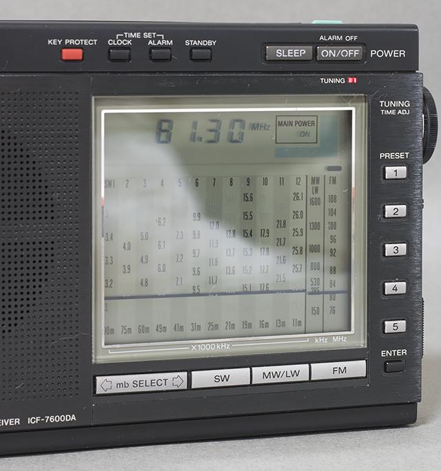 中古品,SONY,ソニー,15バンドラジオ,ICF-7600DA,PLLシンセサイザーレシーバー,FM,LW,MW,SW,短波,BCL,液晶ダイヤル-02